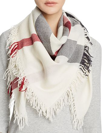 Burberry - Color Check Wool Scarf