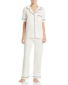 Eberjey Gisele Short Sleeve Long Pant Pajama Set - Bloomingdale's_0