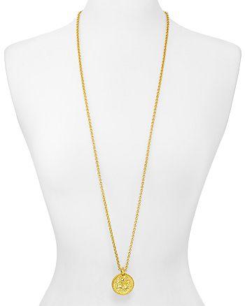 """Julie Vos - Coin Pendant Necklace, 38"""""""
