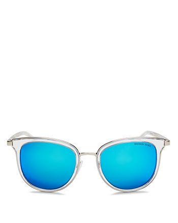 Michael Kors - Women's Mirrored Round Sunglasses, 54mm