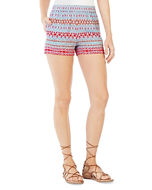 Bcbgmaxazria Colorblock Geometric Print Shorts