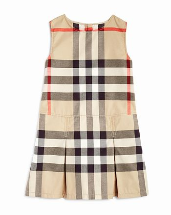 aecd1fed939a Burberry Girls' Pleated Check Dress - Little Kid, Big Kid ...