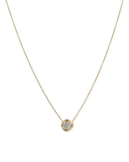 """Marco Bicego - 18K Yellow Gold Delicati Pendant Necklace with Diamonds, 16.5"""""""