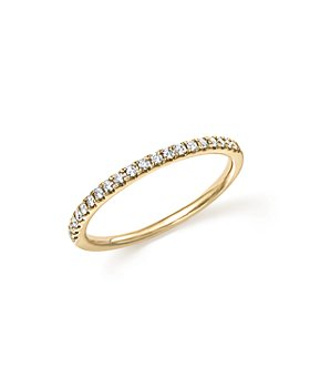 Bloomingdale's - Diamond Micro Pavé Band in 14K Yellow Gold, 0.15 ct. t.w. - 100% Exclusive