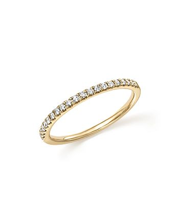 Bloomingdale's - Diamond Micro Pavé Band in 14K Yellow Gold, .15 ct. t.w. - 100% Exclusive
