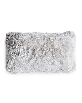 "Hudson Park Collection - Frosted Faux Fur Decorative Pillow, 12"" x 20"" - 100% Exclusive"