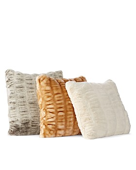 "Hudson Park Collection - Sculpted Faux Fur Decorative Pillow, 20"" x 20"" - 100% Exclusive"