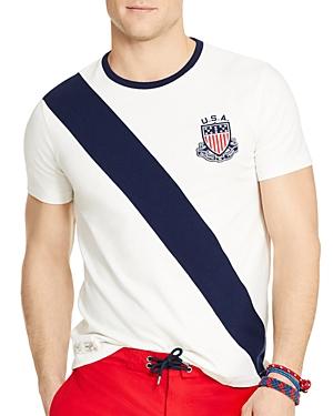 Polo Ralph Lauren Team Usa Banner Stripe Crewneck Tee