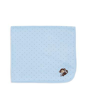 Little Me - Infant Boys' Star Monkey Receiving Blanket