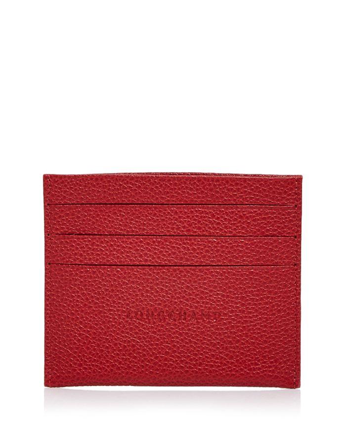 Longchamp Le Foulonne Leather Card Case    Bloomingdale's
