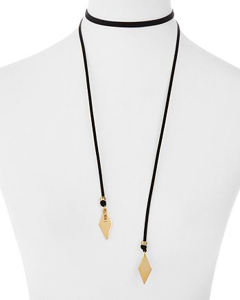 Vanessa Mooney - Voltage Wrap Choker Necklace, 52""