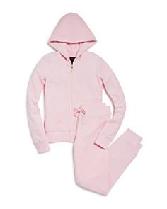 Juicy Couture Black Label Girls' Velour Hoodie & Jogger Pants, Big Kid - 100% Exclusive - Bloomingdale's_0