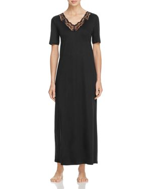 Hanro Valencia Short Sleeve Long Gown