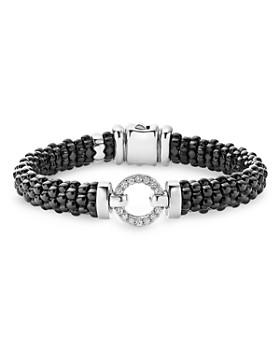 LAGOS - Black Caviar Ceramic Bracelets with Sterling Silver and Diamonds