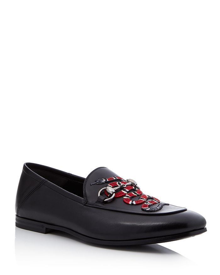 c5e319584 Gucci Men's Brixton Snake-Appliqué Loafers | Bloomingdale's