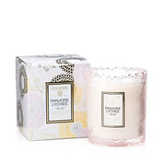 Voluspa - Japonica Panjore Lychee Embossed Glass Scalloped Edge Candle