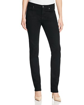 7 For All Mankind - b(air) Kimmie Straight Leg Jeans in Black