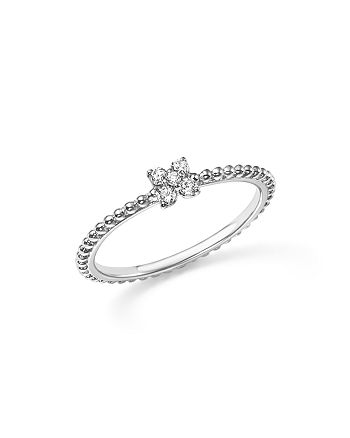 Bloomingdale's - Diamond Cluster Beaded Ring in 14K White Gold, .10 ct. t.w.- 100% Exclusive