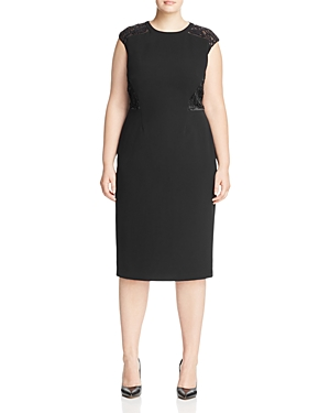 Lafayette 148 New York Plus Talon Embroidered Dress