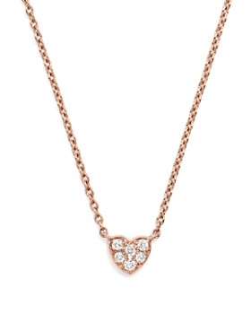 f2edf065c745f9 Bloomingdale's - Mini Diamond Heart Pendant Necklace in 14K Rose Gold, .07  ct.