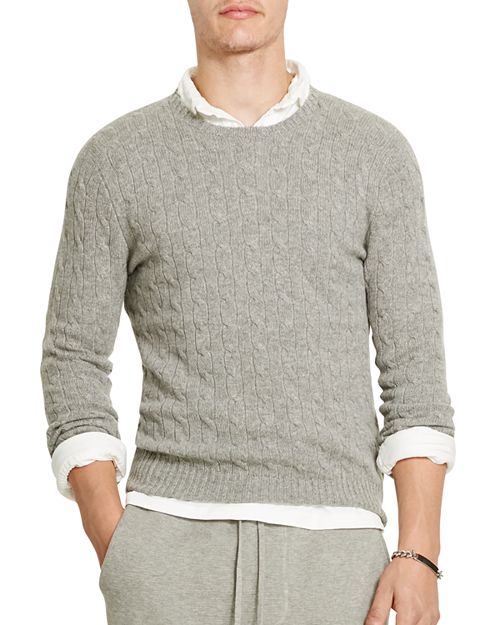 Polo Ralph Lauren Cashmere Cable Knit Sweater Bloomingdales
