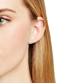 Adina Reyter - Opal & Diamond Disc Stud Earrings