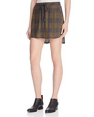 Bella Dahl Plaid Drawstring Mini Skirt - 100% Exclusive
