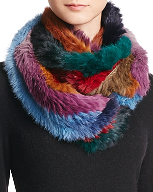 Jocelyn Rabbit Hair Knitted Infinity Scarf - 100% Exclusive