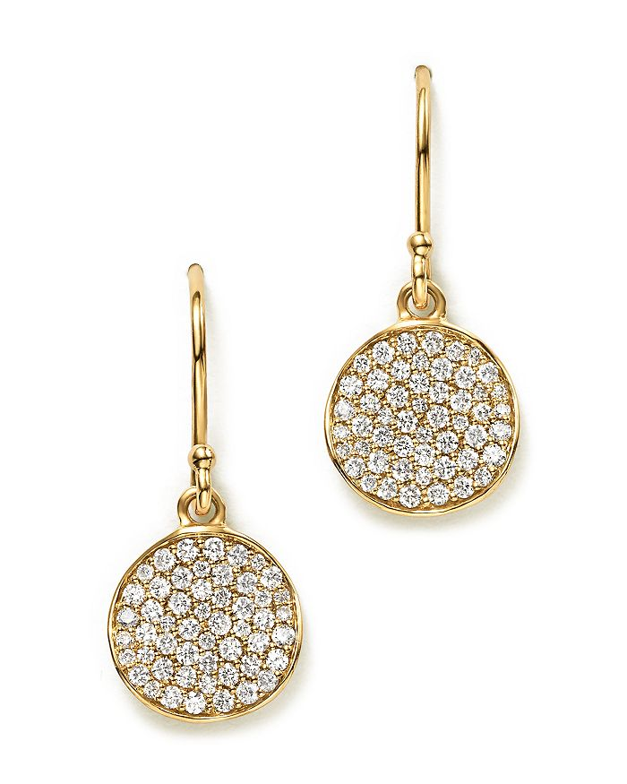 IPPOLITA - 18K Gold Stardust Flower Earrings with Diamonds
