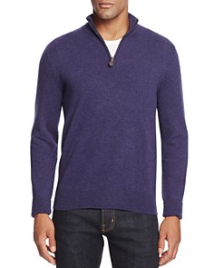 The Men's Store at Bloomingdale's Cashmere Half-Zip Sweater_0