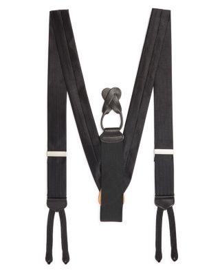 TRAFALGAR Formal Herringbone Silk Brace in Black