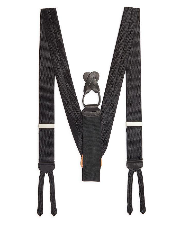 Trafalgar Men's Formal Herringbone Silk Brace In Black