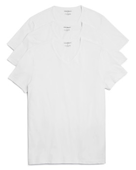 Armani - Pure Cotton V-Neck T-Shirts - Pack of 3