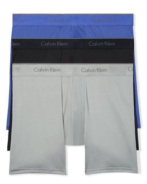 Calvin Klein - Microfiber Stretch Boxer Briefs - Pack of 3