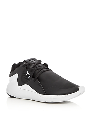 Y-3 Qr Run Lace Up Sneakers
