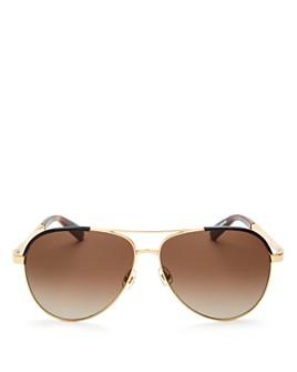kate spade new york - Women's Amarissa Aviator Sunglasses, 60mm