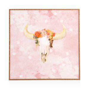 Deny Romantic Boho Buffalo Framed Print, 12 x 12