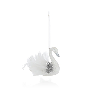 Bloomingdale's Embellished White Swan Ornament - 100% Exclusive
