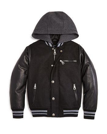 Urban Republic - Boys' Mixed Media Varsity Jacket - Sizes 4-7