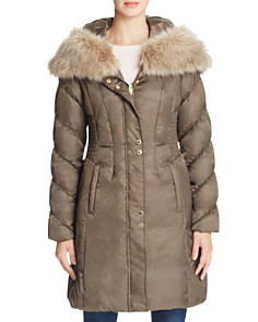 Via Spiga - Smocked Waist Puffer Coat