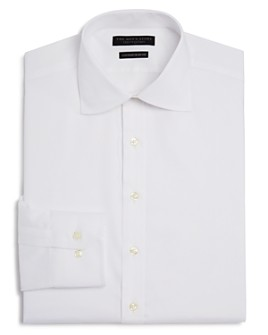 The Men's Store at Bloomingdale's - Twill Solid Regular Fit Basic Dress Shirt- 100% Exclusive