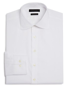The Men's Store at Bloomingdale's - Twill Solid Regular Fit Basic Dress Shirt - 100% Exclusive