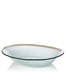 Annieglass - Large Oval Serving Bowl