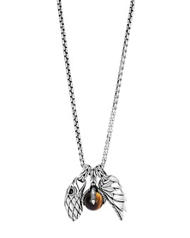 JOHN HARDY - Sterling Silver Legends Eagle Charm Necklace with Tiger's Eye, 26""
