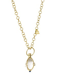 Temple St. Clair - 18K Yellow Gold Lunar Phase Amulet with Blue Sapphire and Diamond