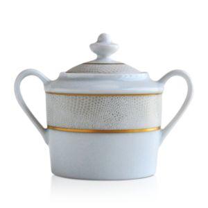 Bernardaud Sauvage White Sugar Bowl