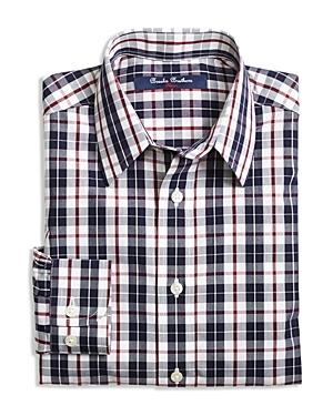 Brooks Brothers Boys Double Plaid Shirt  Sizes Xsxl