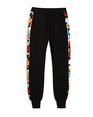 Terez Girls' Emoji Side Panel Sweatpants, Sizes 7-16 - 100% Exclusive