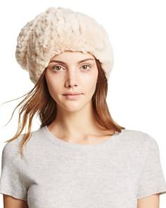 Surell Rabbit Fur Slouch Hat - Bloomingdale's_0