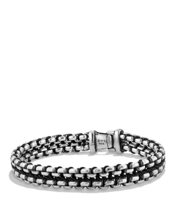 David Yurman Woven Box Chain Bracelet in Black     Bloomingdale's